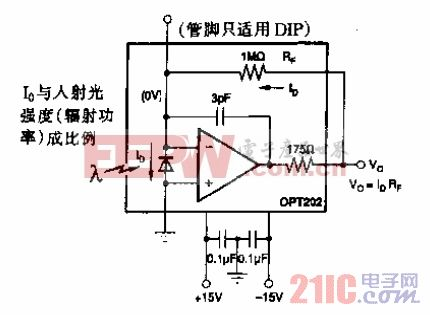 OPT202工作时基本连接电路.gif