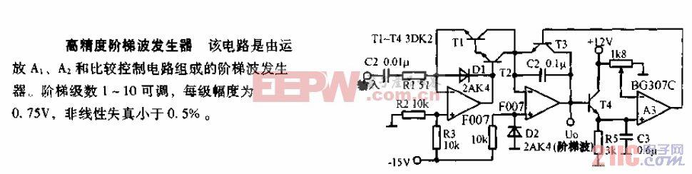 高精度阶梯波发生器电路图.gif