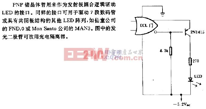 ECL至LED的接口电路.gif
