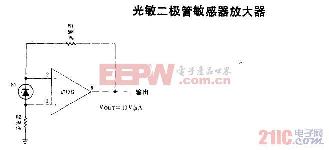光敏二极管敏感 器放大器.gif