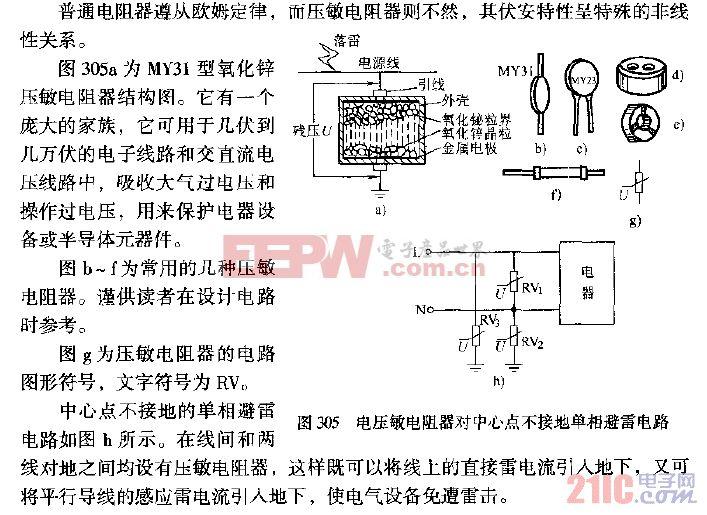 电压敏电阻器对中心点不接地单相避雷电路.gif