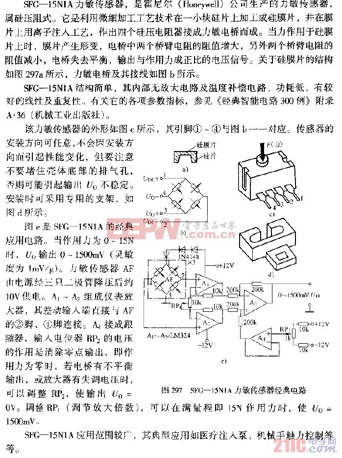 SFG—15N1A力敏传感器经典电路.gif