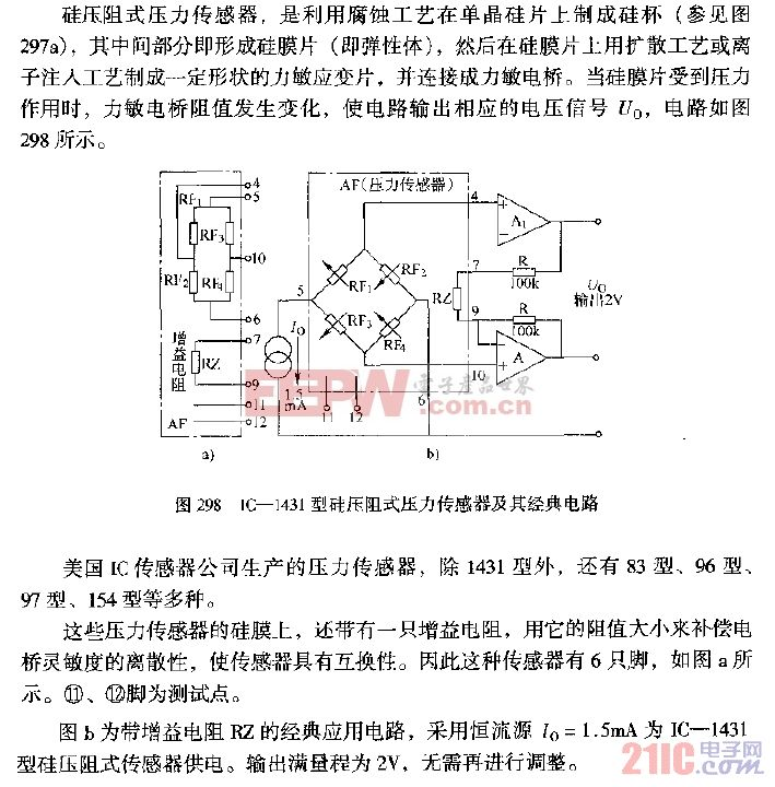 IC—1431型硅压阻式压力传感器经典电路.gif