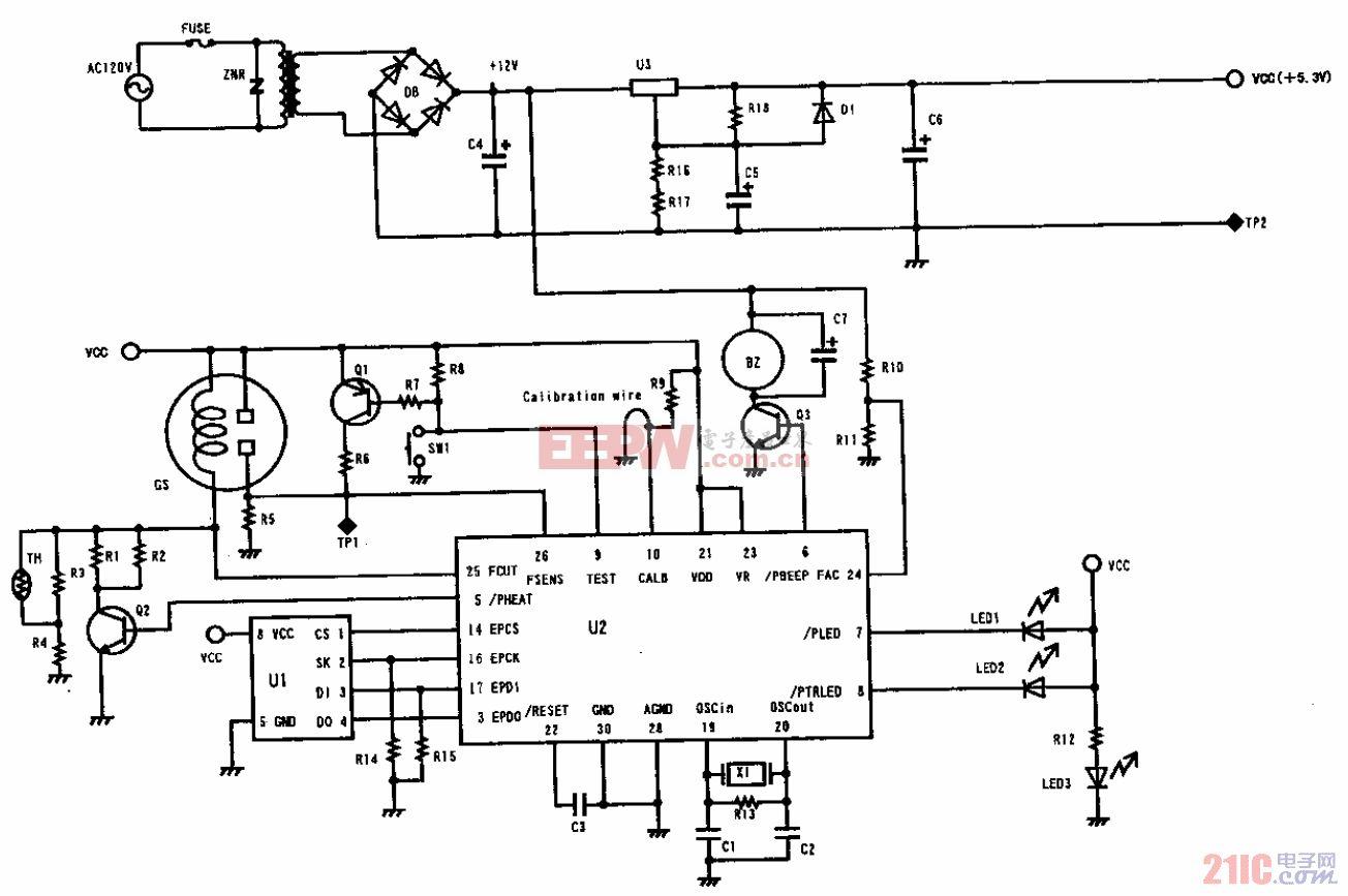 NAP-11A-FL用于CO检测电路电路(NSU-11M)