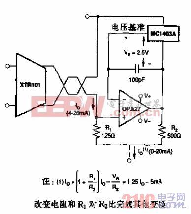 0至20mA输出变换器应用电路.gif