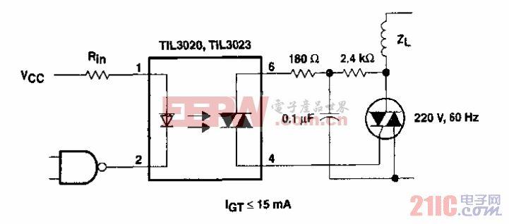 具有灵敏触发栅感性负载的可控硅电路.gif