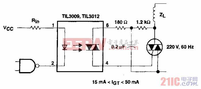 具有非灵敏栅感性负载的双向可控硅电路.gif