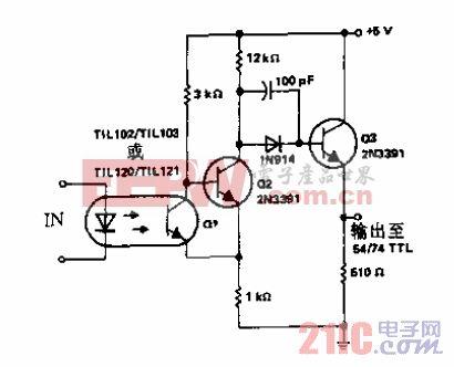 光耦合器与分立元件施密特触发器用于驱动54/74 TIL电路.gif