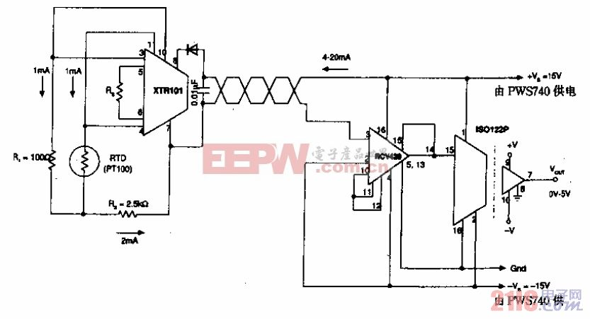 RTD ISO 122隔离变送器