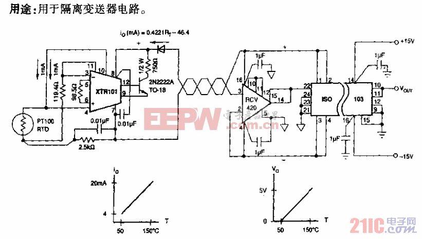 RTD ISO 103型隔离放大电路