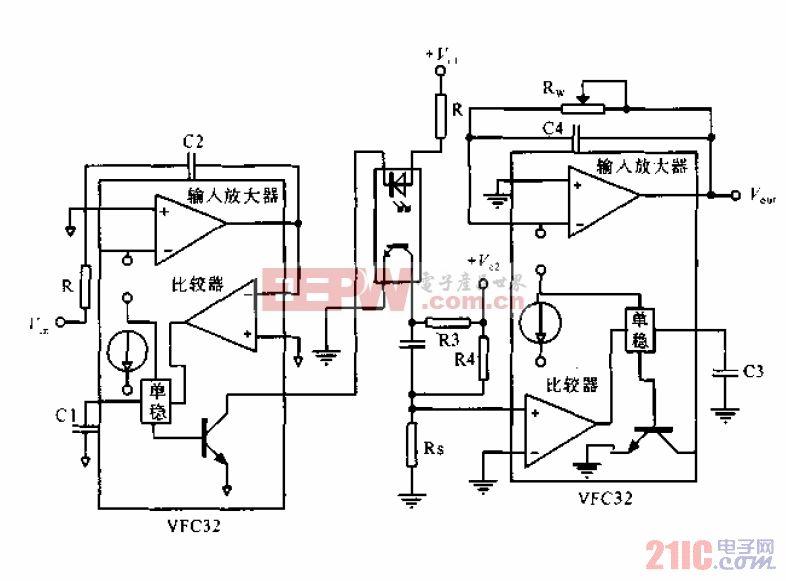 远距离传输电压频率转换电路.gif