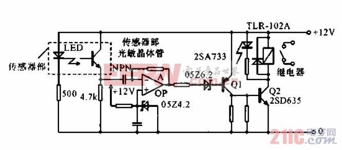 光电耦合器检测织布机断线信号处理电路.gif