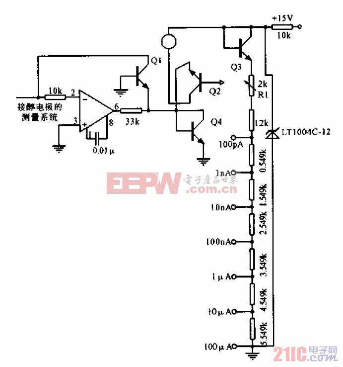 微生物电极的组装和测量系统
