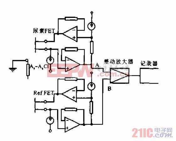 尿素-FET测量电路.gif