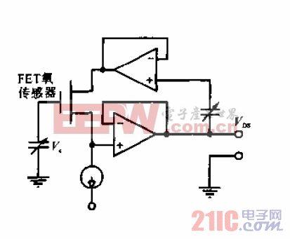 FET氧传感器测量电路.gif