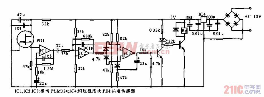 用于检测人体的远红外传感器的电路.gif