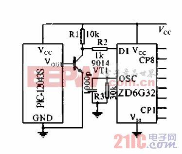 微型红外接收模块PIC-12043S电路图