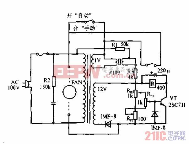 自动排气扇电路.gif