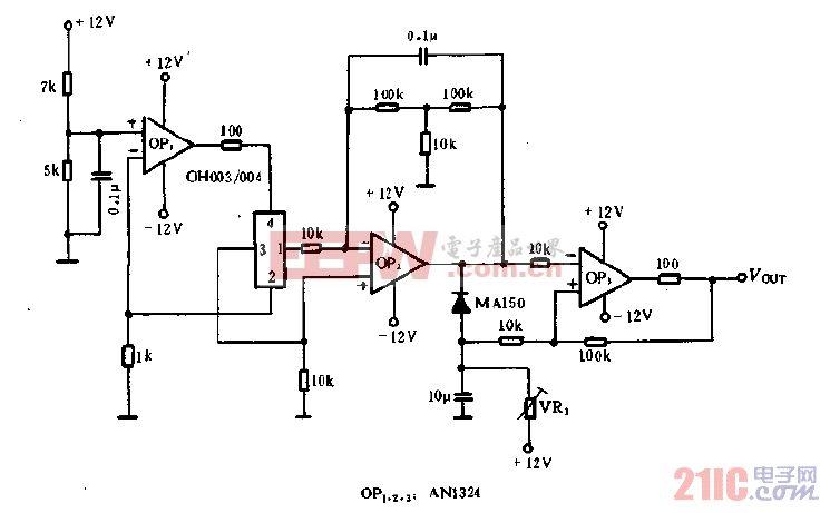 OH003,004的物体检测电路图.gif