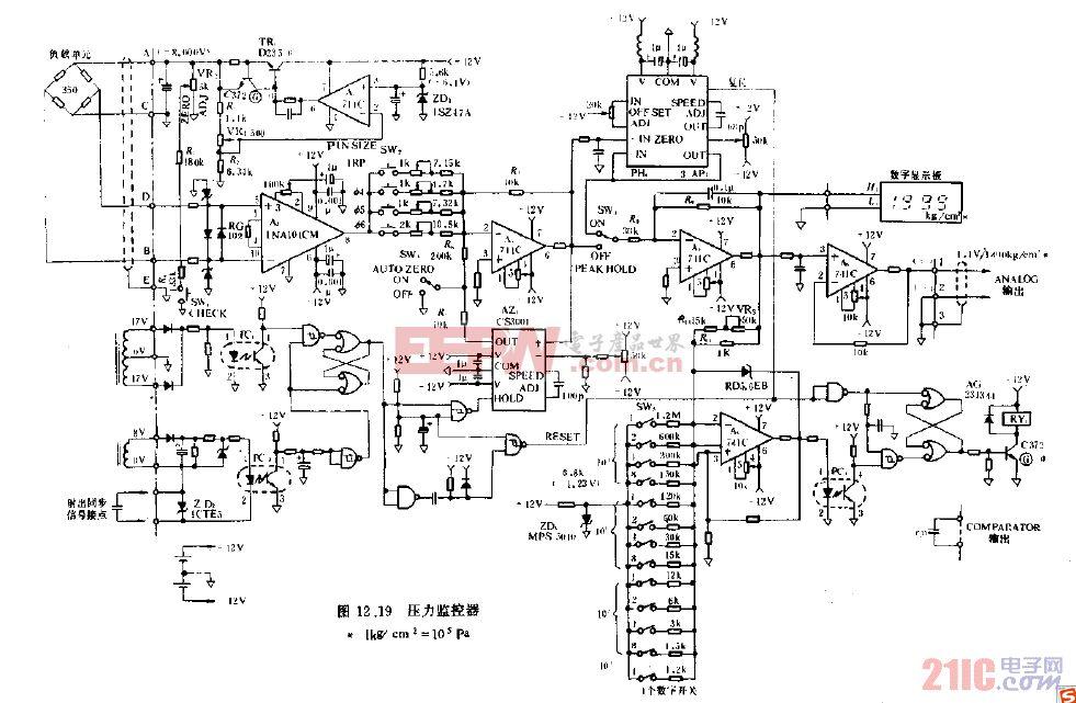 应变片的压力检测电路图.gif高清图片
