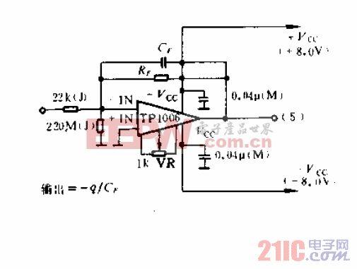 电荷型放大器电路图.gif