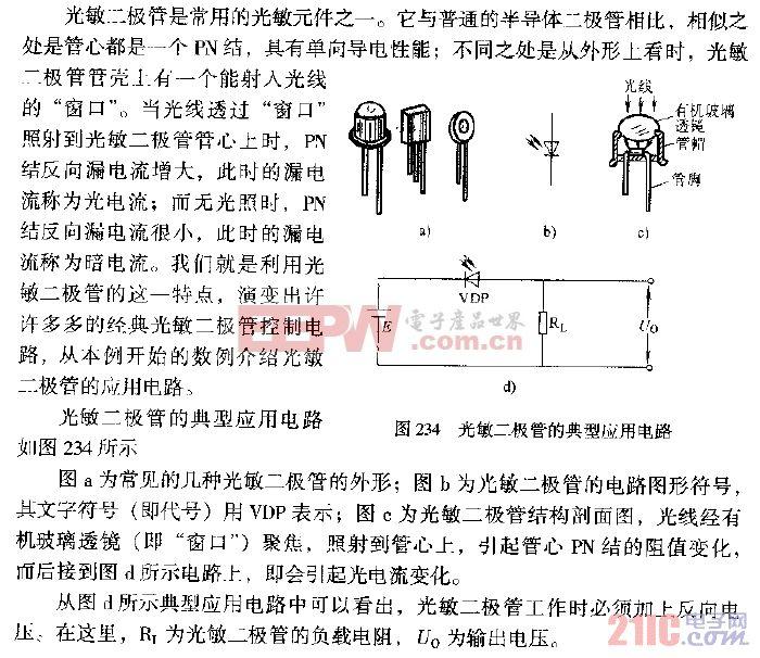 光敏二极管典型应用电路