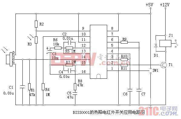 红外热释电处理芯片BISS0001和热释电元件D204B4.gif