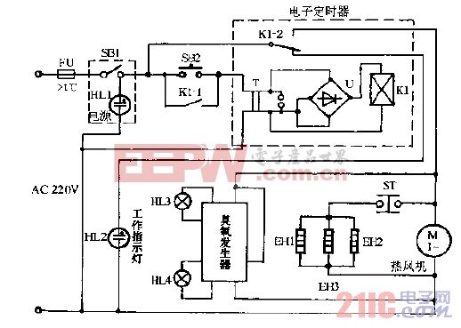 新达WGD-360高温,臭氧电子消毒柜电路图.gif