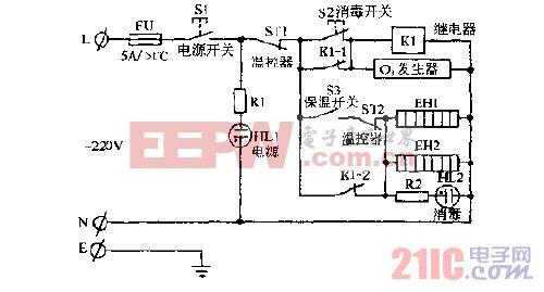 利隆牌ZTP-63,ZTP-68多功能厨具茶具消毒柜电路图.gif