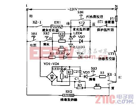 百合YGR18-15多功能电子饮水器电路图.gif