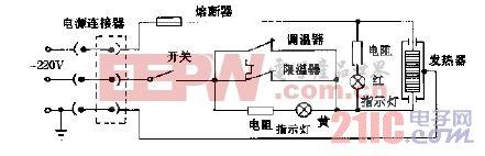 怡德CRB10-1型多功能电热锅电路图.gif