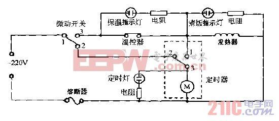 美的CFXB40-4,CFXB50-4豪华定时自动电饭锅电路图.gif