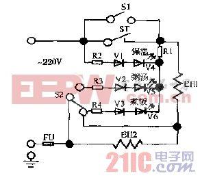 乐宝CFXB45-6到CFXB80-6,CFXB45-2HD到CFXB50-2HD保温式电子多用电饭锅电路图