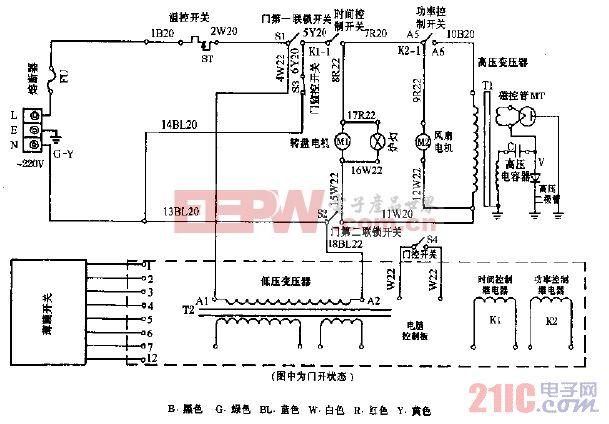 蚬华E70E-2,E100-2电脑式微波炉电路图.gif
