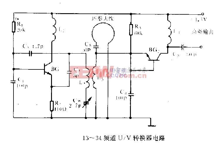 13-34频道U-V转换器电路