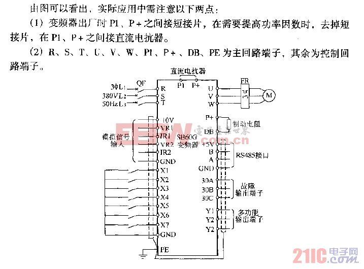 森兰SB60变频典型应用电路图.gif