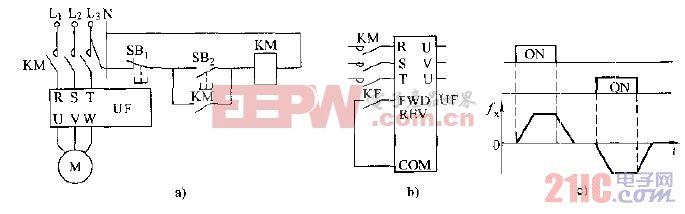 通用变频器外接正转控制电路.gif