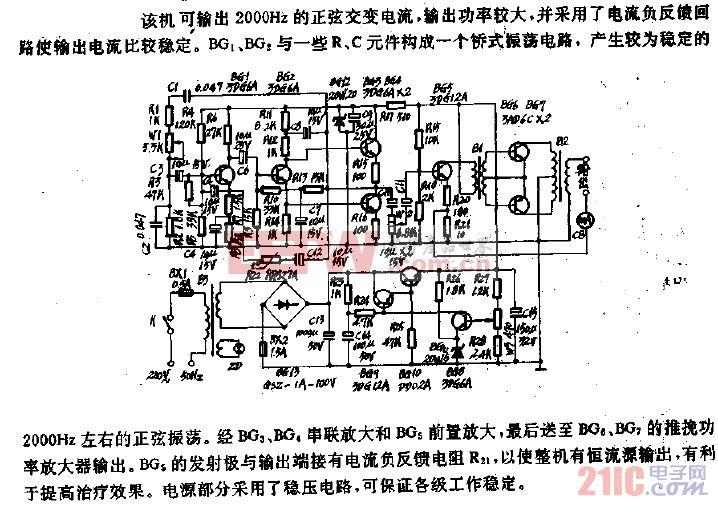 YL-3型音频电疗机电路.gif