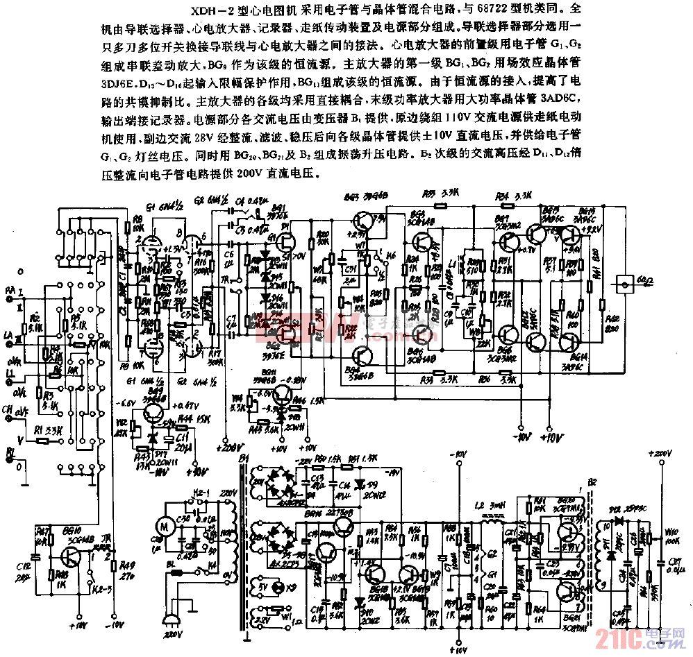 XDH-2型心电图机电路.gif