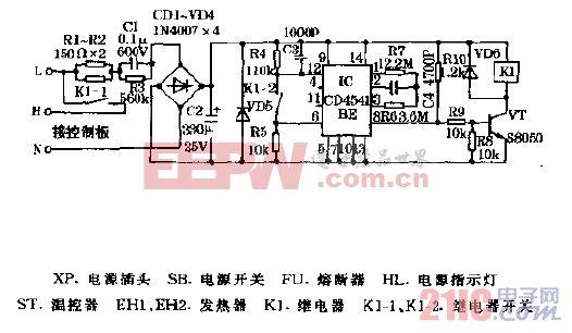 神奇QPFB-10型台式蒸汽电熨机控制板电路图.gif