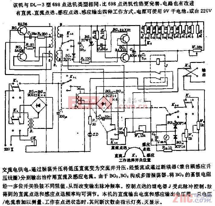 ZGL-1型直流感应电疗机电路.gif