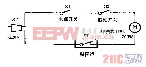 方成SG260-A食品榨汁,搅拌机电路图.gif