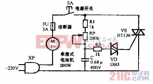 得禾DJ-3A手提式食品电动搅拌机电路图.gif