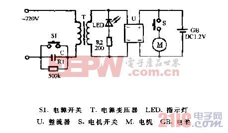 超人RSCX-102充电式电动剃须刀电路图.gif