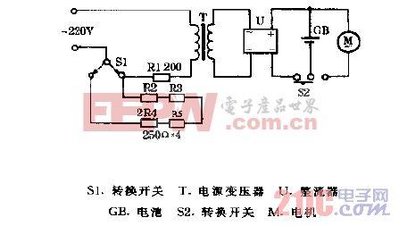 SNVD牌SV-M301型电动剃须刀电路图.gif