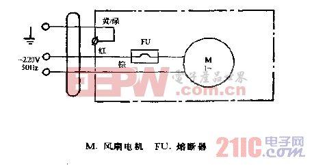 金羚牌KHJ2-10管道式换气扇电路图.gif