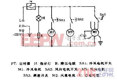 新萍牌XP-821,XP-823空调扇电路图