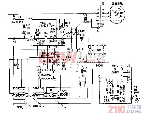 菊花牌FL40-12落地扇电路图.gif