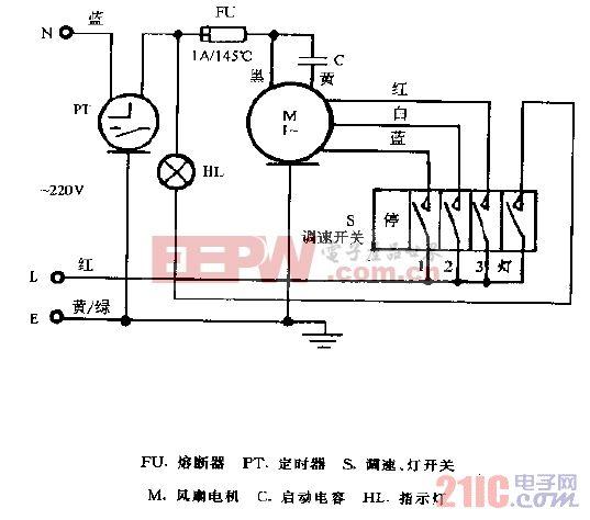 华生FS80-40落地扇电路图.gif