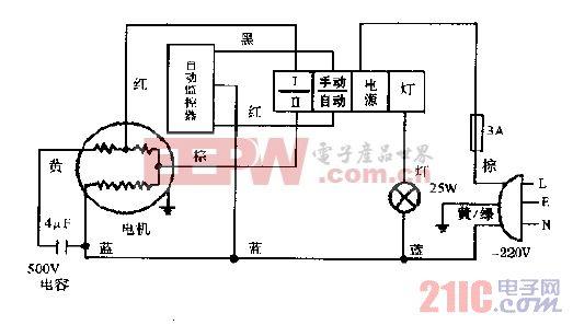 小天鹅cxw-230-99b单轮型抽油烟机电路图